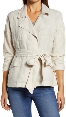 Caslon Belted Linen Jacket