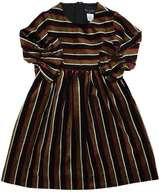 Oscar de la Renta Striped Velvet Dress