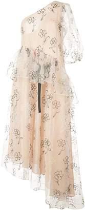 Sandy Liang asymmetric sheer dress