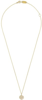 Ippolita 18kt yellow gold small Stardust pave flower pendant necklace