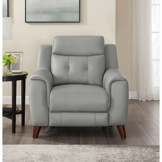 Tortuga Wrought Studio Leather Power Recliner Wrought Studio