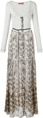 Altuzarra Pollie snake-effect maxi dress