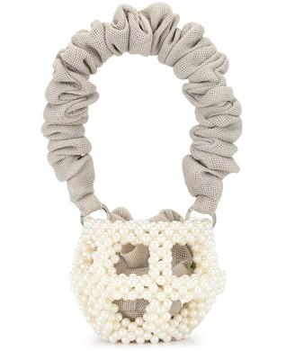 0711 Mei pearl-embellished bucket bag