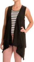 August Silk Fringed Sweater Vest (For Women)