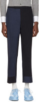 Thom Browne Navy Classic Funmix Trompe l'Oeil Backstrap Trousers