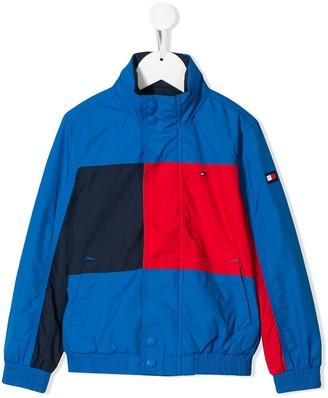 Tommy Hilfiger Junior reversible colour block jacket