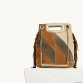 Maje Two-tone suede leather bucket bag