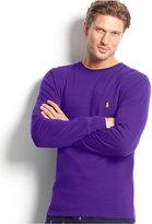 Polo Ralph Lauren Men's Solid Tipped Thermal Crew-Neck Top