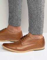 Base London Cashe Leather Derby Shoes