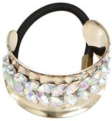 DCNL Hair Accessories Gold Pony Cuff with Stones