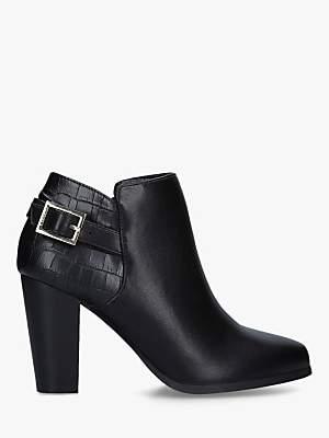 Carvela Shoot Buckle Shoe Boots, Black