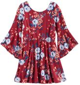 My Michelle Girls 7-16 Floral Trumpet Sleeve Dress