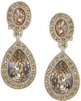 Carolee Pave Teardrop Clip-On Earrings