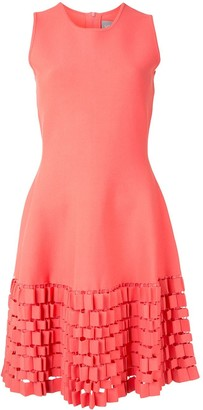 Lela Rose Cut-Out Shift Dress