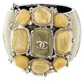 Chanel CC Wide Bangle Bracelet