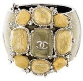 Chanel CC Wide Bangle Bracelet