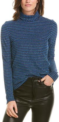 Anna Sui Metallic Checkered Sweater