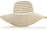 Melissa Odabash Laurianne wide-brim woven and faille hat