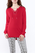 FDJ French Dressing Red Long Sleeve Top