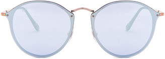 Ray-Ban Round Sunglasses in Copper & Dark Violet Mirror | FWRD