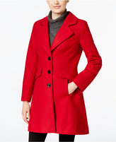 CeCe by Cynthia Steffe Wool-Blend Bow-Detail Walker Coat