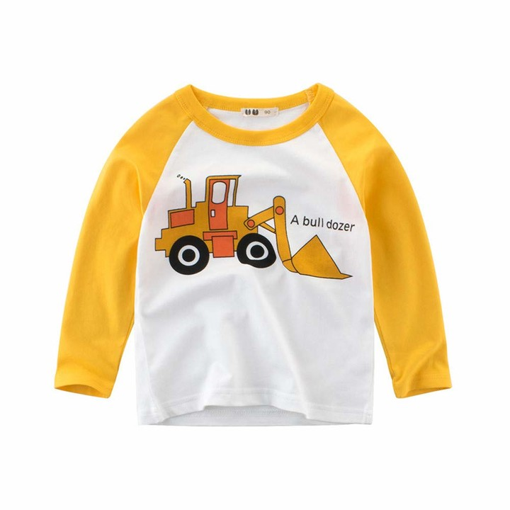 Thumbnail for your product : JYC- Toddler Kids Baby Boy Cartoon Car Crewneck Pullover Sweatshirt Tops Children Clothes Outfits White