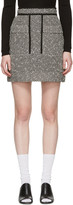 Carven Black & White Jacquard Miniskirt