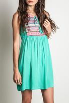 Umgee USA Minty Aztec Dress