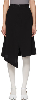 Maison Margiela Black Asymmetric Skirt