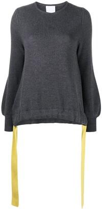 Antonella Rizza Wool Drawstring-Hem Jumper