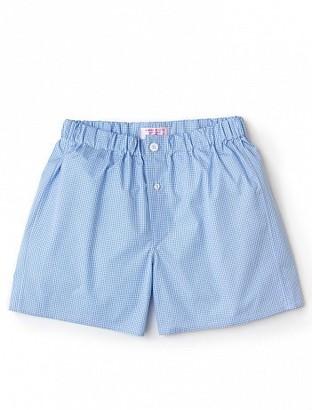 Emma Willis Blue Check - Patchwork Boxer Shorts