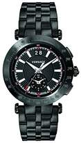 Versace Men's 'V-RACE SPORT' Swiss Quartz Stainless Steel Casual Watch, Color:Black (Model: VAH040016)