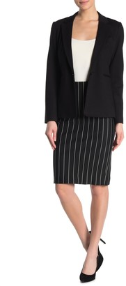 T Tahari Pull-On Pinstripe Ponte Skirt