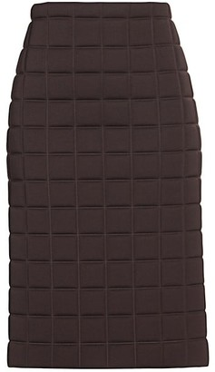 Bottega Veneta Quilted Technical Pencil Skirt