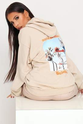 I SAW IT FIRST Sand Bad Girl Oversized Hoodie