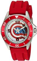Marvel Men's 'Captain America' Quartz Stainless Steel and Rubber Casual Watch