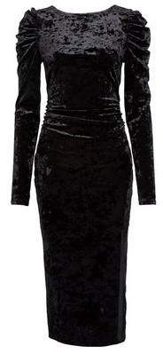 Dorothy Perkins Womens **Lola Skye Black 80'S Scoop Back Bodycon Dress, Black