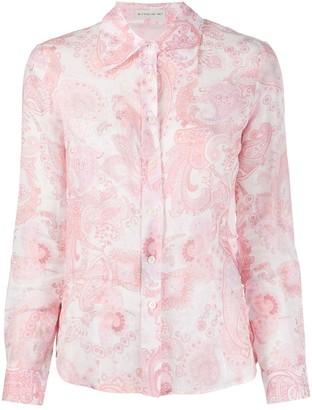 Etro Paisley-Print Versized-Collar Shirt
