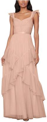 BCBGMAXAZRIA Ruffled Gown