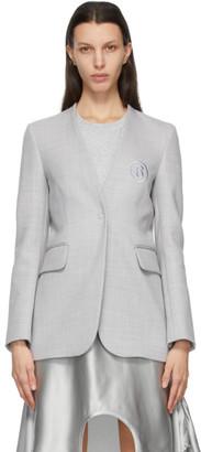 MM6 MAISON MARGIELA Grey Wool Collarless Blazer