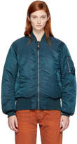 Bless Reversible Green Richmanpoorman Bomber Jacket