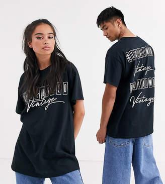 Reclaimed Vintage Unisex 90's printed tshirt-Black