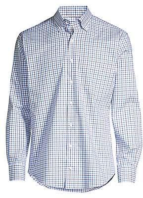 Peter Millar Men's Crown Ease Stretch Cotton Check Shirt