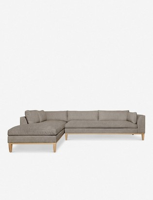 Lulu & Georgia Charleston Left-Facing Sectional Sofa, Flannel
