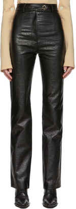 A.W.A.K.E. Mode Black Patent Back-To-Front Trousers