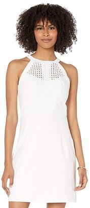 Lilly Pulitzer Charlize Stretch Shift Dress (Resort White) Women's Dress