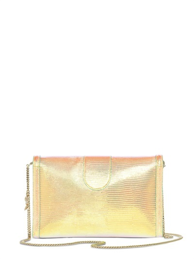 Glam Kissed Embossed Leather Clutch