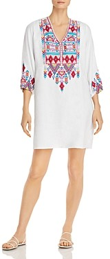 Johnny Was Laurelle Embroidered Tunic Dress