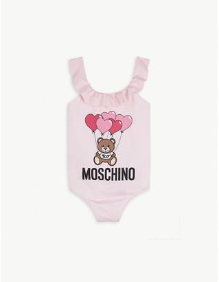 Moschino Frill neck shell swimming costume 4-12 years