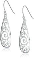 Amazon Collection Sterling Silver Filigree Teardrop Earrings